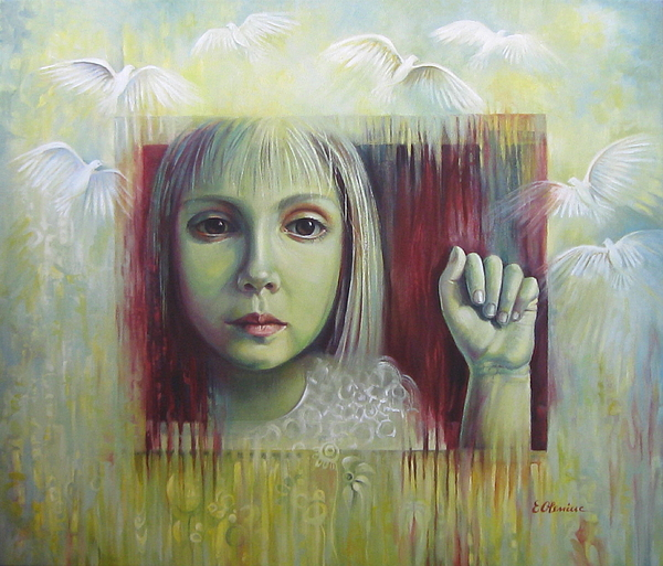 Girl Painting - If You Have A Dream... by Elena Oleniuc