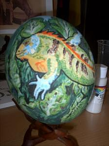 Animal Painting - Iguana Egg by Sally Durr