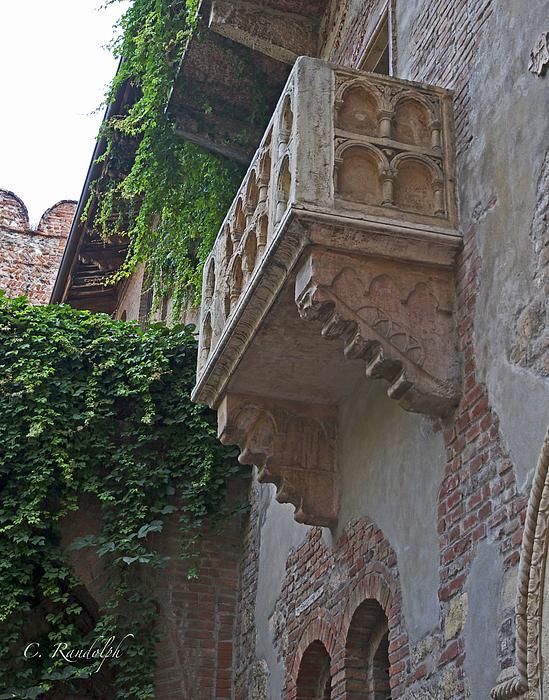 Verona Photograph - Il Balcone De Giulietta by Cheri Randolph