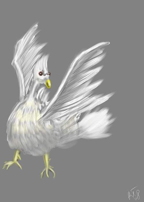 Bird Painting - Ill Fly Away by Ronald Terrel