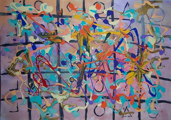Abstract Painting - Illusion Of Order by Helene Henderson