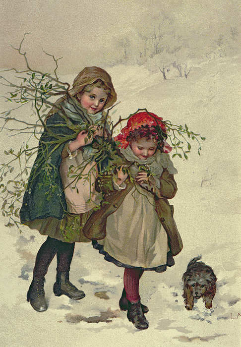 Illustration Painting - Illustration From Christmas Tree Fairy by Lizzie Mack