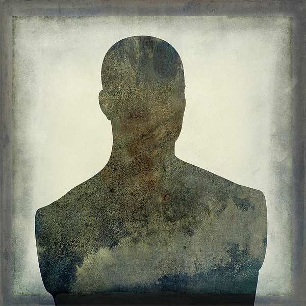 Texture Photograph - Illustration Of A Human Bust. Silhouette by Bernard Jaubert