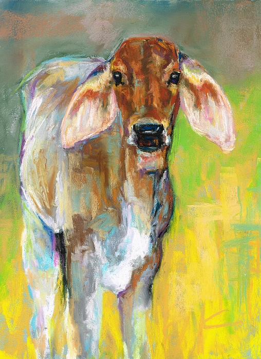 Cattle Painting - Im All Ears by Frances Marino