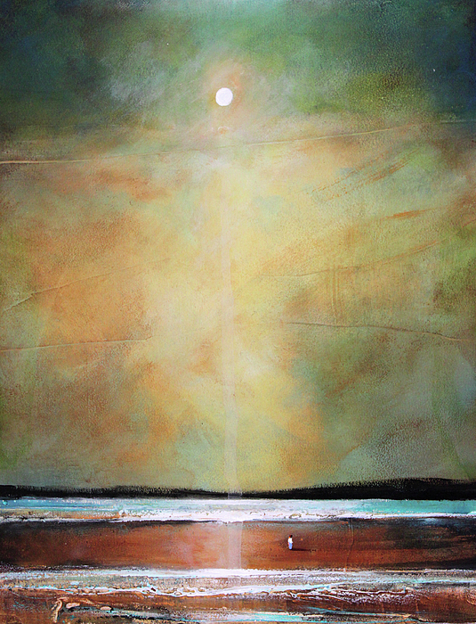 Spiritual Painting - Im Never Alone by Toni Grote