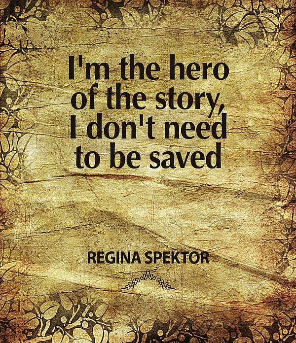 Regina Spektor Digital Art - Im The Hero by Cindy Greenbean