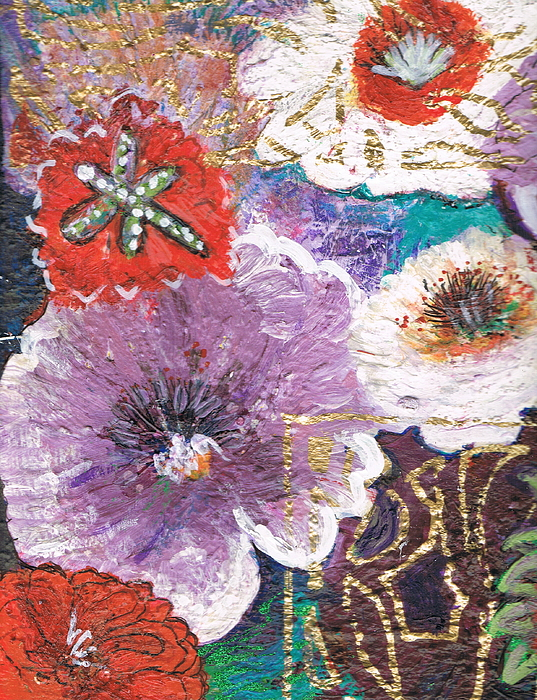 Flowers Mixed Media - Imagine Flowers Instead Of Powers by Anne-Elizabeth Whiteway