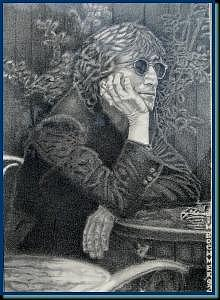 Lennon Drawing - Imagine by James Boehmer