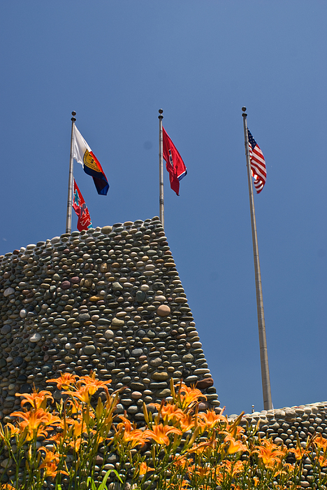 Imposing Photograph - Imposing Flags by Douglas Barnett