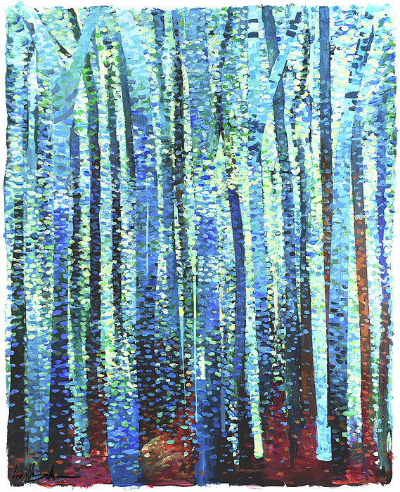 Pastel Painting - Impression Of Trees by Geoff Greene