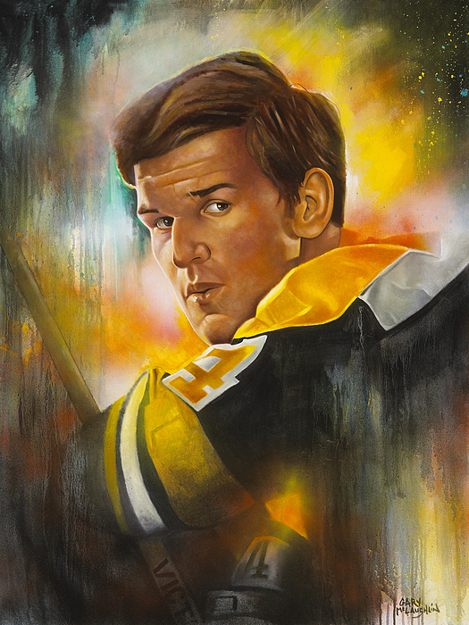 Orr Painting - In A League Of His Own by Gary McLaughlin