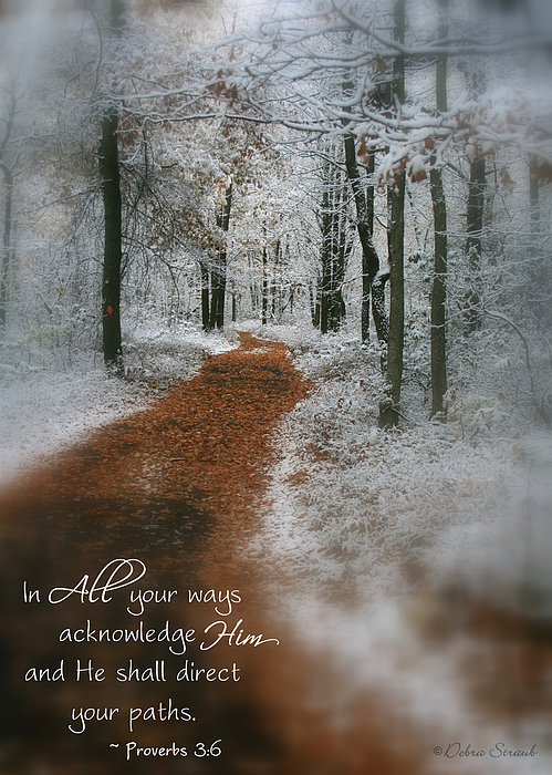 Inspirational Photograph - In All Your Ways by Debra Straub
