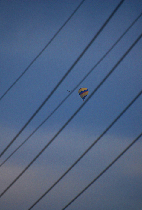 Hot Air Baloon Photograph - In Between The Lines by Jean Booth