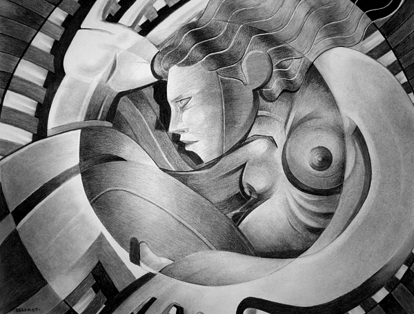 Art Drawing - In Circle by Myron  Belfast