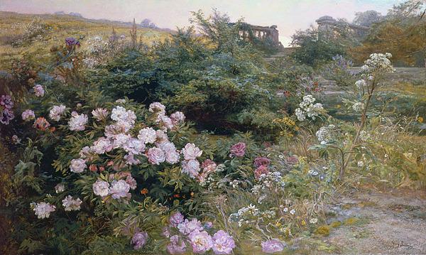 Full Painting - In Full Bloom  by Henry Arthur Bonnefoy