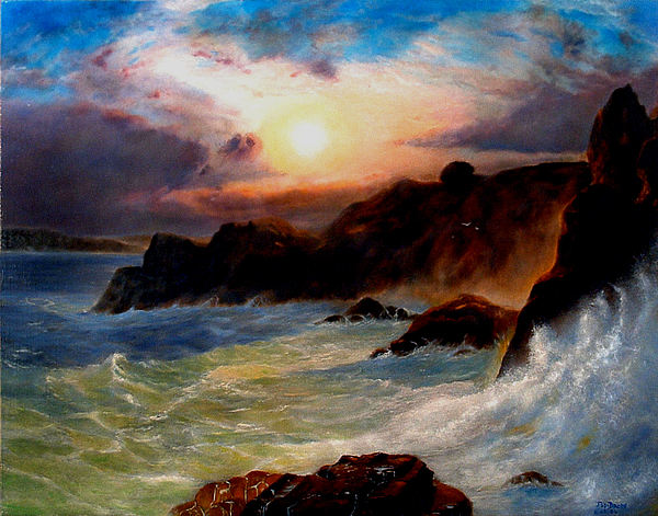 Seascape Painting - In His Majesty by Jodi Brody