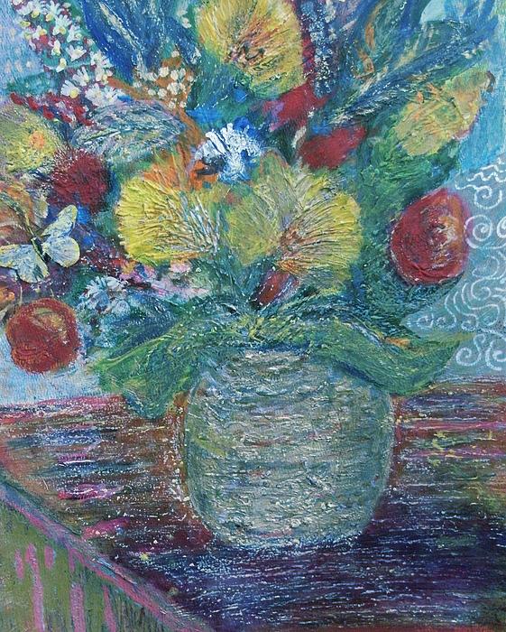 Les Fleures Mixed Media - In Honor Of My Friends In My Garden by Anne-Elizabeth Whiteway