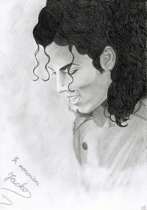 Michael Jackson Drawing - In Memoriam Jacko by Eniko Tanyi