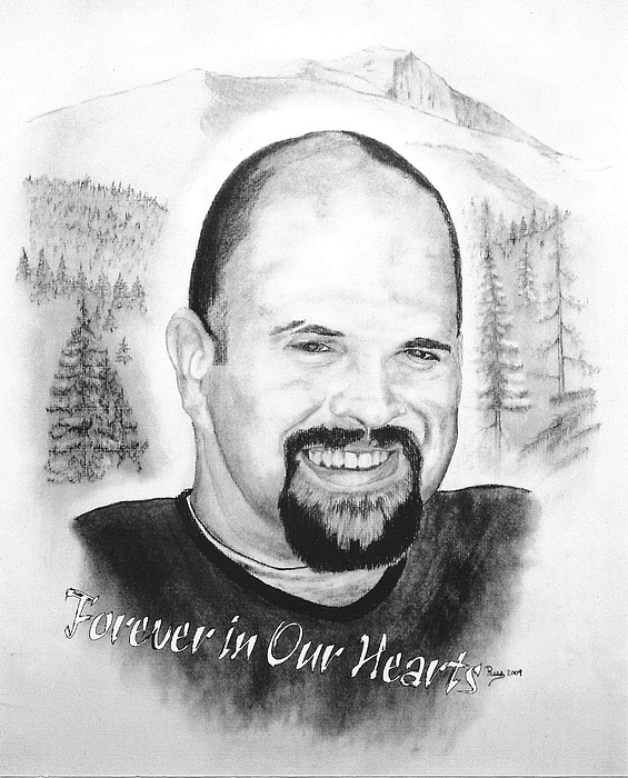 Portrait Drawing - In Memory Of Leroy Mathews by Russ  Smith