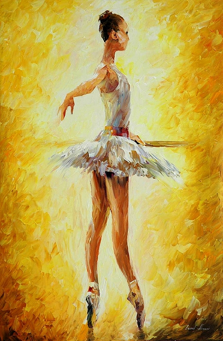 Afremov Painting - In The Ballet Class by Leonid Afremov