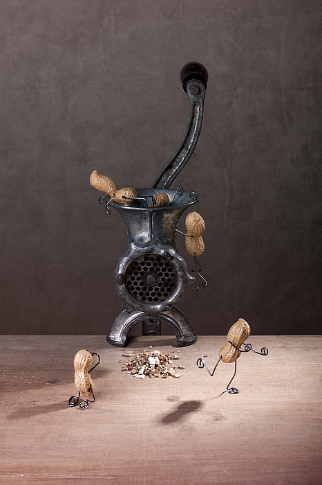 Peanut Photograph - In The Meat Grinder 01 by Nailia Schwarz