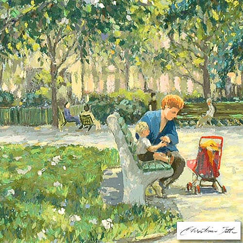 Park Painting - In The Park by Title Christian