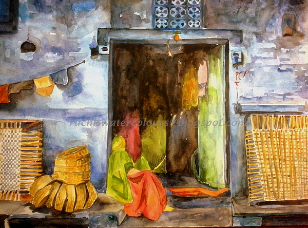 Landscape Painting - In The Shadow... by Ruchi Singh
