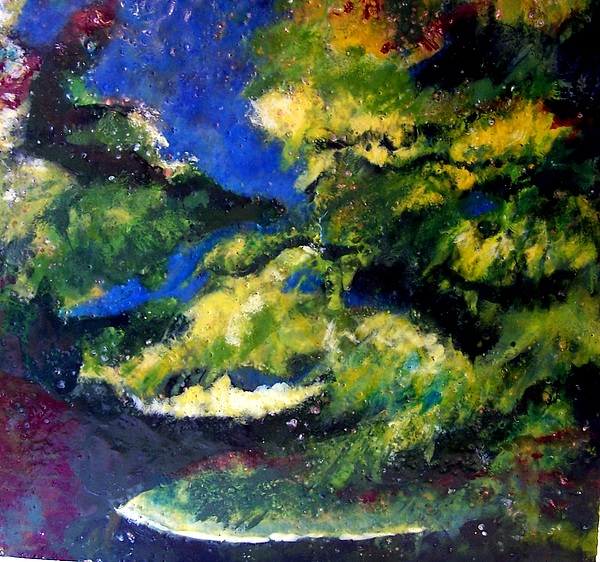 Landscape Painting - In The Spaces by Karla Phlypo-Price
