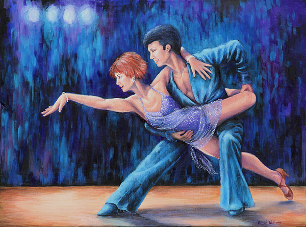 Ballroom Dance Painting - In The Spotlight by Penny Birch-Williams