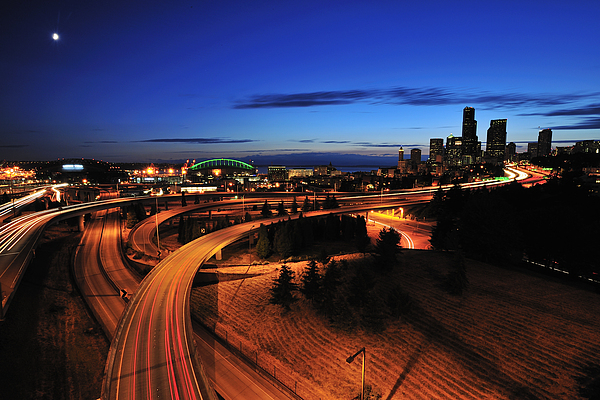 Seattle Photograph - In To Emerald City C083 by Yoshiki Nakamura