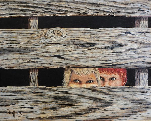 Bob Hallmark Painting - In Trouble by Bob Hallmark