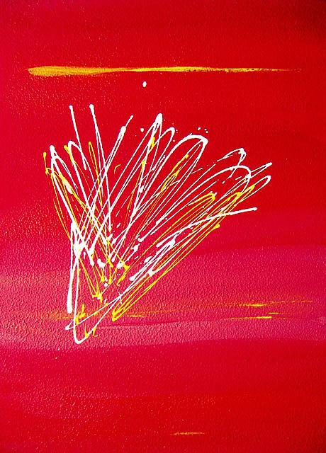 Rossa Painting - Incandescenza Rossa by Elio Scuderi