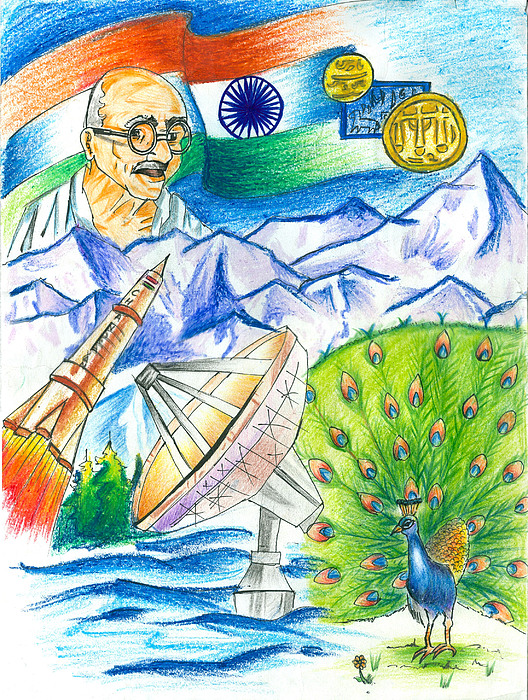 Country Painting - Incredible India by Tanmay Singh