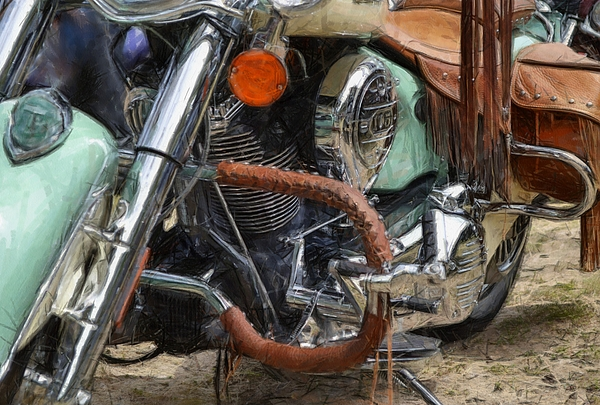 Power Photograph - Indian Chief Vintage Ll by Michelle Calkins