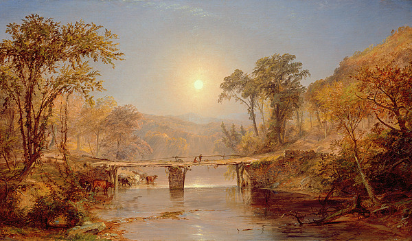 Sun Painting - Indian Summer On The Delaware River by Jasper Francis Cropsey