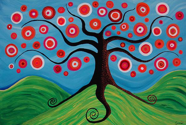 Tree Painting - Indian Summer by Pamela Cisneros