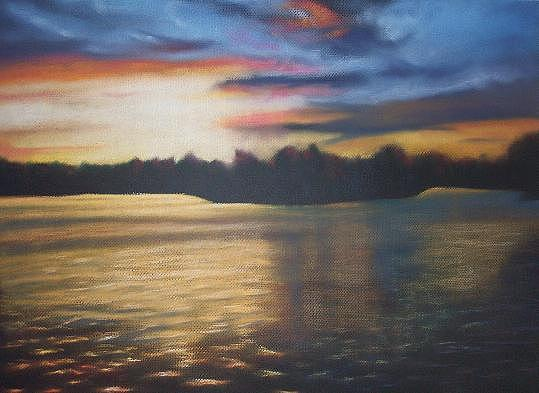 Pastel Painting - Indian Trail Resort by JEAN DeLaO