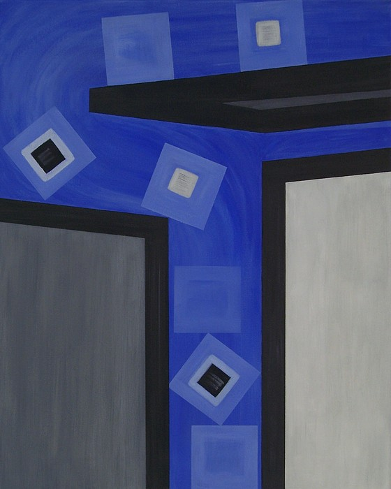 Corporate Painting - Industry 1 Blue Collar by Sandy Bostelman