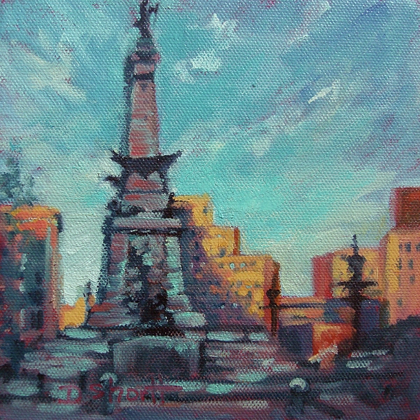 Indianapolis Painting - Indy Circle- Day by Donna Shortt