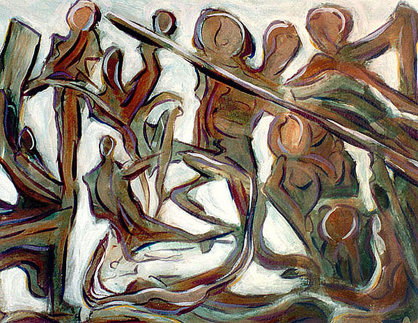 Abstract Painting - Initiation by Terrance DePietro