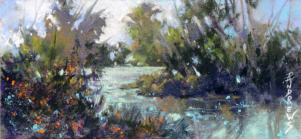 Fine Art Workshops Painting - Inlet Haven by Rae Andrews