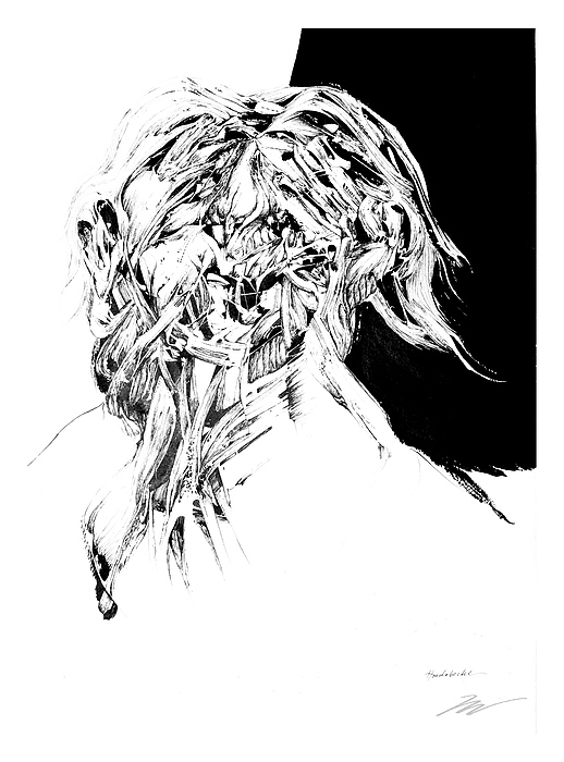Inner Beauty Drawing By Mark Hoedebecke