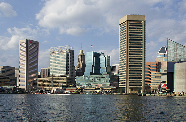 Baltimore Photograph - Inner Harbor - Baltimore  Maryland by Brendan Reals