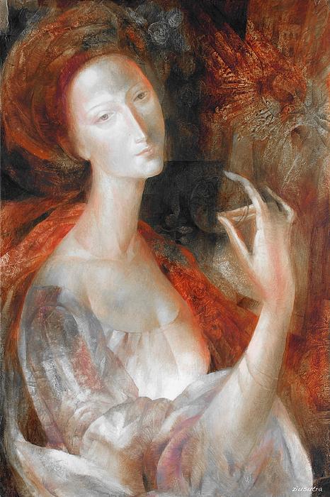 Flower Painting - Inner Light by - Ziusutra
