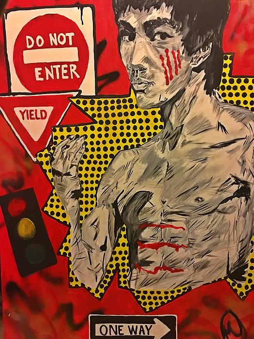 Bruce Lee Painting - Inner Warrior  by Miriam Moran