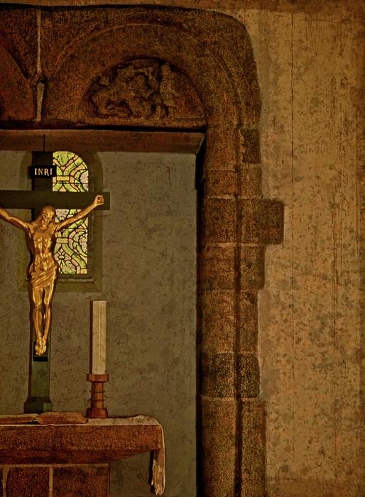 Iesus Nazarenus Rex Iudaeorum Photograph - Inri by Odd Jeppesen