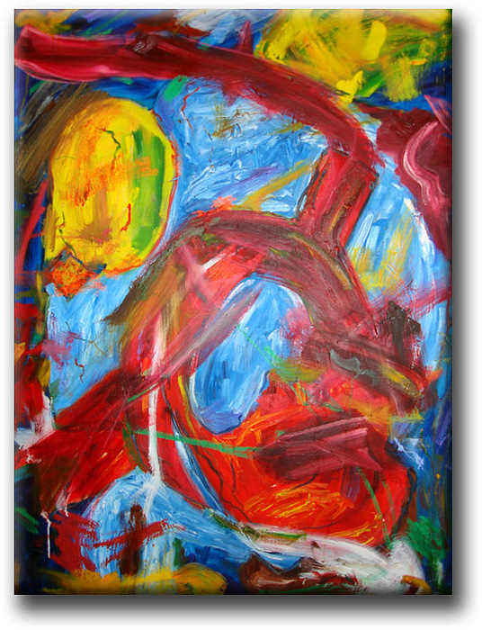 Inside And Outside 34x48 Inches Original Oil On Stretched Canvas Painting Painting by Iris Lavy