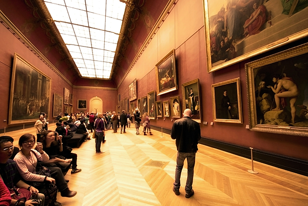 Louvre Museum Photograph - Inside Louvre Museum  by Charuhas Images