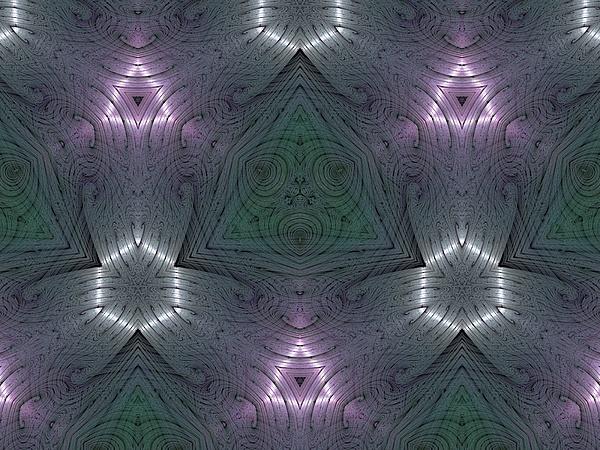 Kaleidoscope Digital Art - Inside The Crystal by Ricky Kendall