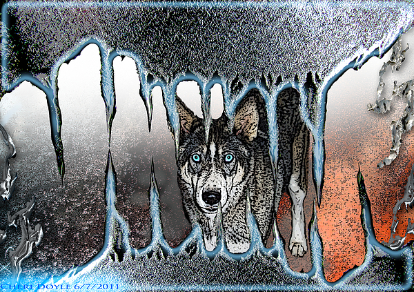 Wolf Digital Art - Inside The Monsters Jaws by Cheri Doyle